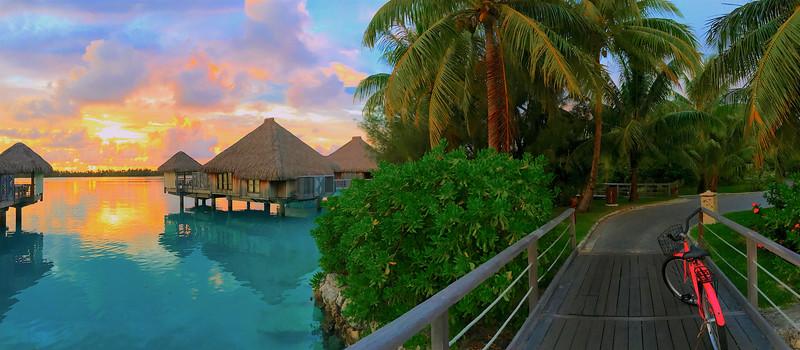 Sunrise bike ride - St. Regis Resort - Bora Bora