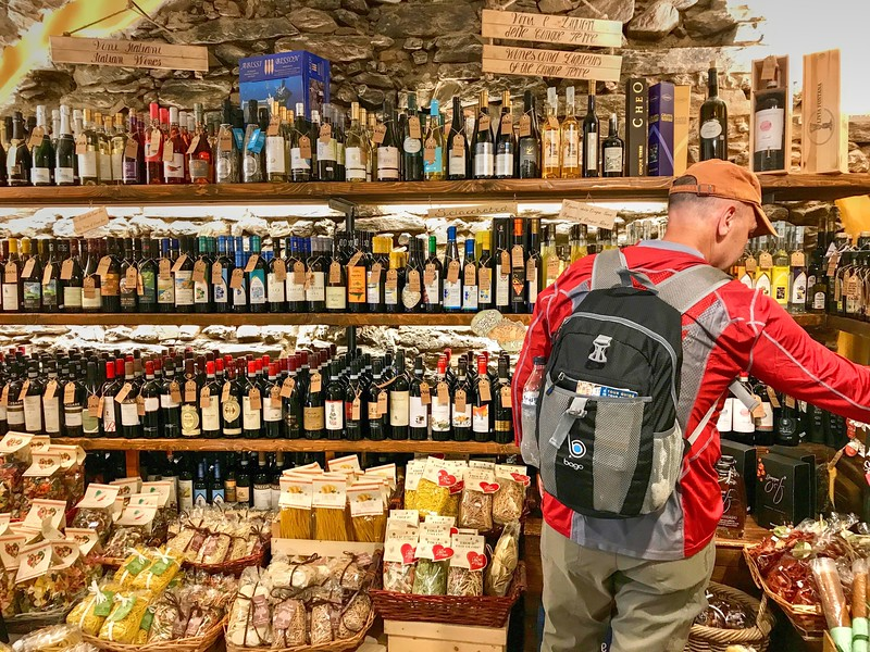 Browsing the beautiful shops - Vernazza, Italy