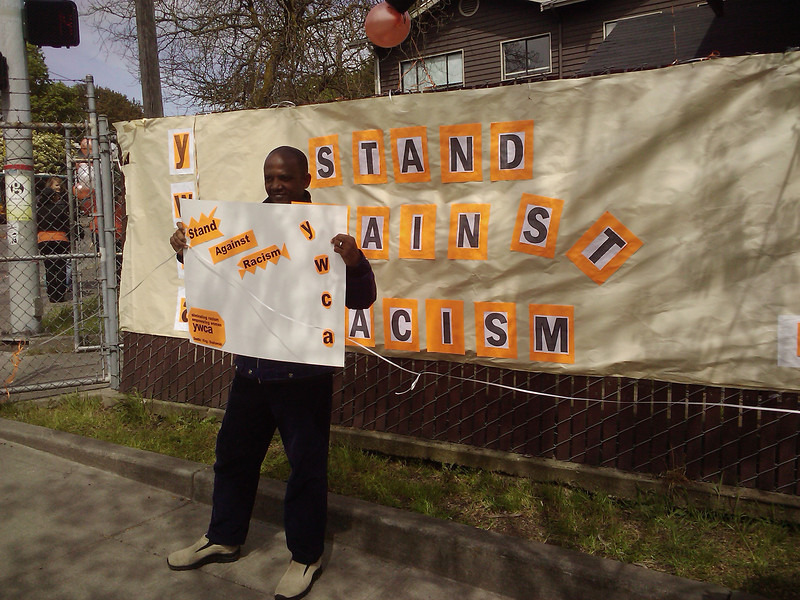 Stand Against Racism at YWCA Fir Street Shelter