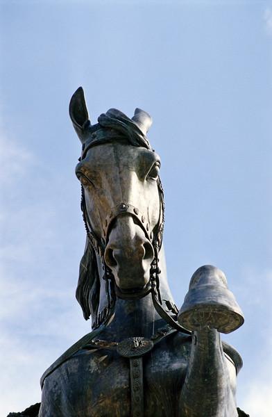 Horse Statue Detail, Piazza Venezia, Rome (Italy)