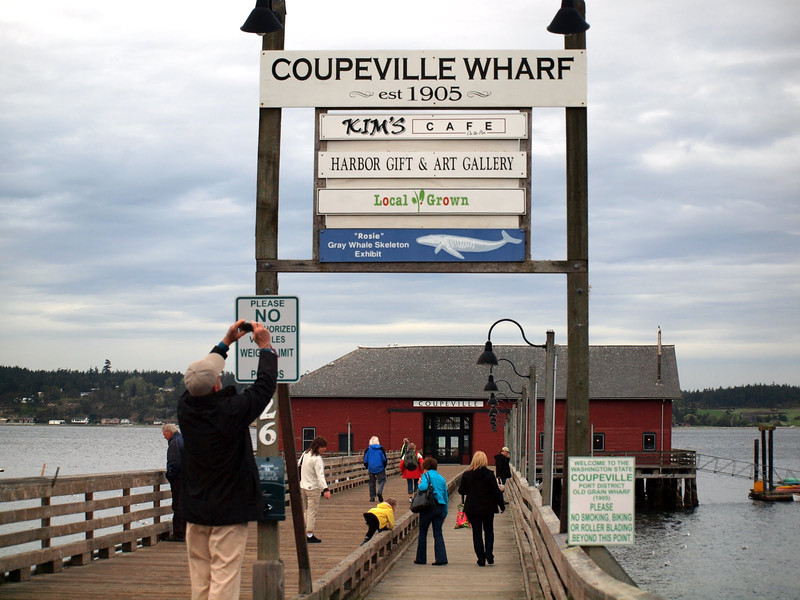 And then we took a stroll down the Coupeville Wharf