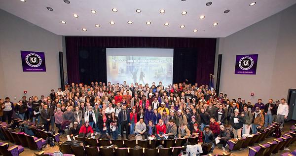 Ashraf addresses students at Kansas State University, Manhattan, Kansas - November 2018