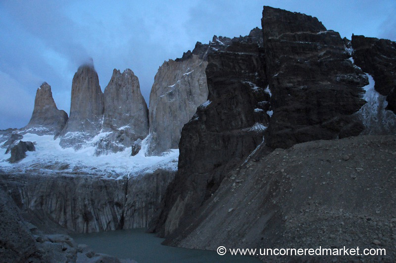 Sunrise at the Torres - Torres del Paine National Park, Chile