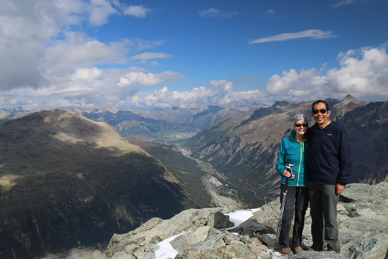 Top of Munt Pers with view toward St. Moritz