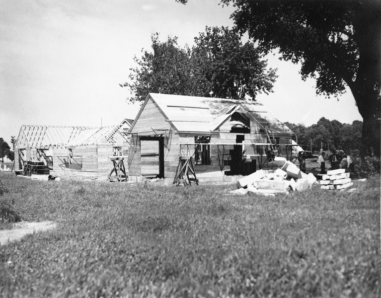Clubhouse under construction, 1933