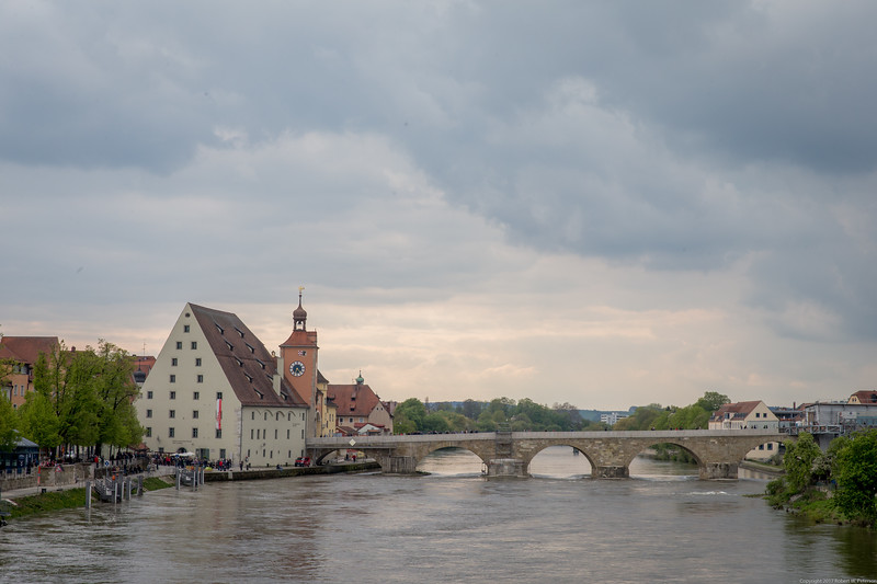 Stone Bridge Over the Danube