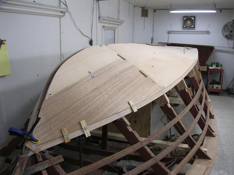 Starboard view of third bottom layer beig fit.