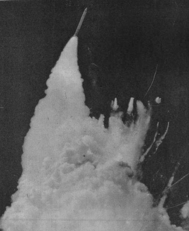 . Challenger explosion. UPI