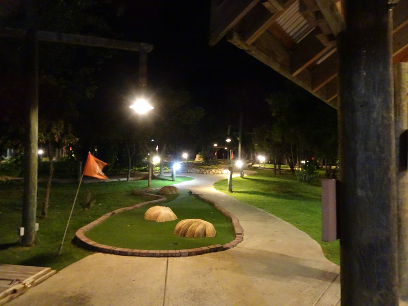 Every night we played mini golf after dinner