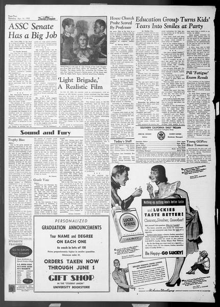 Daily Trojan, Vol. 44, No. 110, April 14, 1953