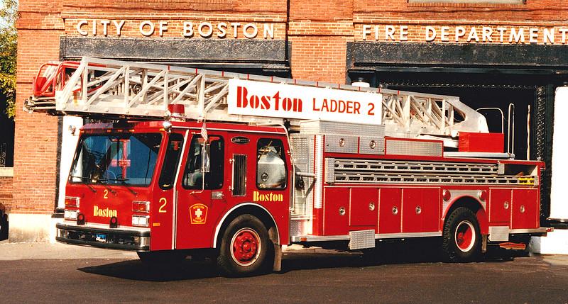 Retired Ladder 2.  1984 E-One Hurricane.  110' RM