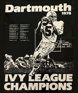 1978 Dartmouth Football Poster