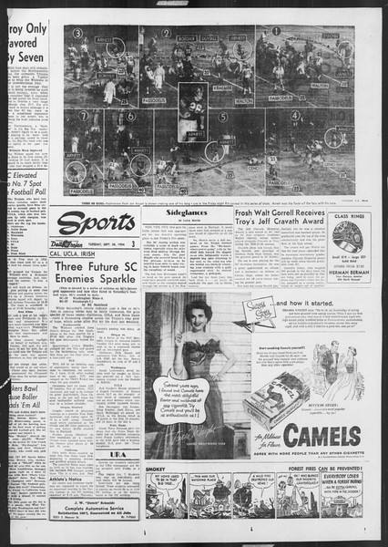 Daily Trojan, Vol. 46, No. 8, September 28, 1954