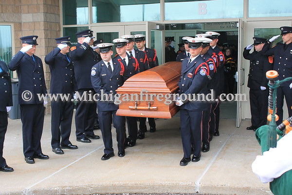 2/10/16 - Lansing Fire Department Captain Stephen Babcock Funeral