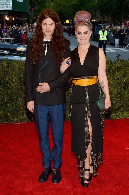 """. Matthew Mosshart and Kelly Osbourne attend the Costume Institute Gala for the \""""PUNK: Chaos to Couture\"""" exhibition at the Metropolitan Museum of Art on May 6, 2013 in New York City.  (Photo by Larry Busacca/Getty Images)"""