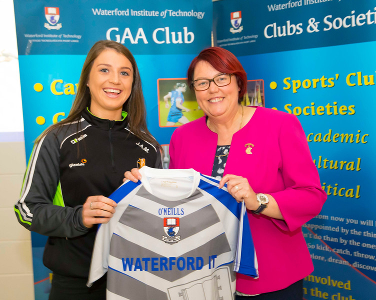 WIT holds event to honour 2016 All Ireland medal winning students. Pictured with the  President of the Camogie Association Catherine Neary is Julieann Malone of the Kilkenny Senior Camogie Team. Picture: Patrick Browne  Waterford Institute of Technology's presence and influence across Gaelic Games at a national level in 2016 has been very noticeable. In total there are 32 past and present WIT students on the respective playing panels that won All Ireland medals in 2016 and a further 4 members on the backroom management teams.   To honour this huge achievement, WIT GAA Club is paying tribute to these 36 past members on securing these prestigious national titles on Monday 3 October, 6.30pm at the WIT Arena.   Along with the players, the prestigious cups, including the All Ireland Senior Hurling Cup- Liam McCarthy, the All Ireland Senior Camogie Cup- O'Duffy, The All Ireland Minor Cup and the All Ireland Under 21 Hurling Cup- James Nowlan, will be on show on the night.