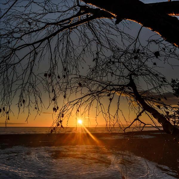 April sunset after rain