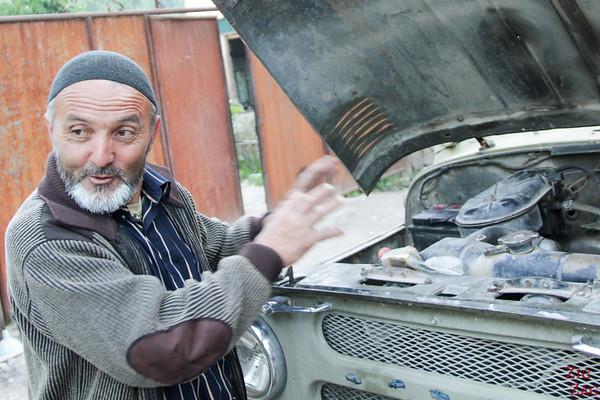 Portrait Kyrgyzstan: men in Arslanbob 3