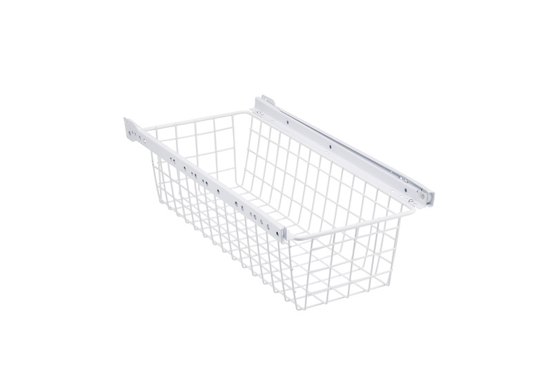White Wire Drawer with rollers