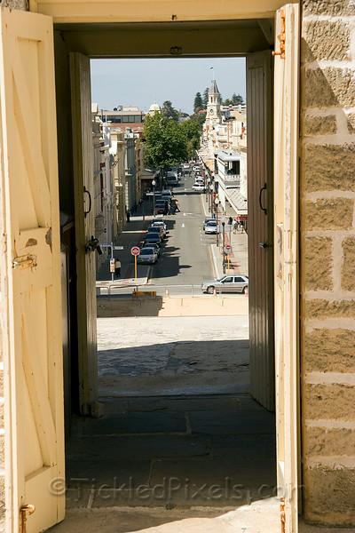 High Street through the Roundhouse Door