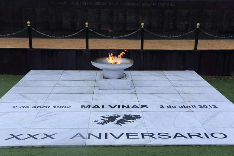 Falklands/Malvinas war memorial, Ushuaia  Jan 2013