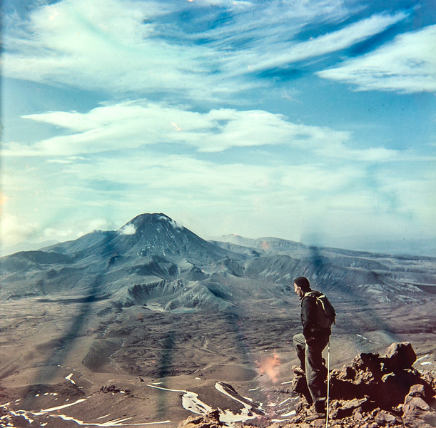 1951 Bill Toomey with JER Mathews practicing on Pinnicles, Mt Ruapehu looking at Mt Ngarahoe  _JM_4823 a.jpg