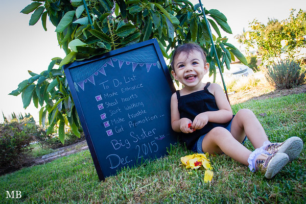 Kiara is going to be a big sister!