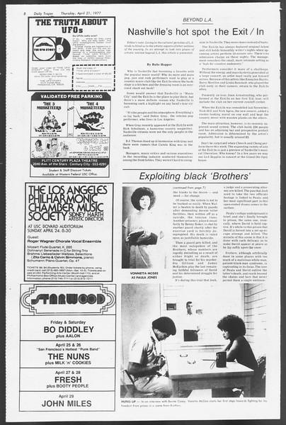 Daily Trojan, Vol. 71, No. 44, April 21, 1977