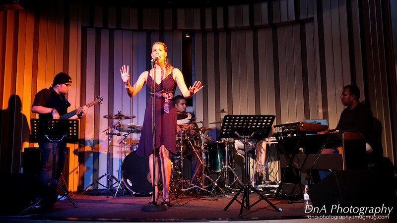 The experienced and internationally acclaimed jazz vocalist, Stacey Swanson performing at G-Spot.