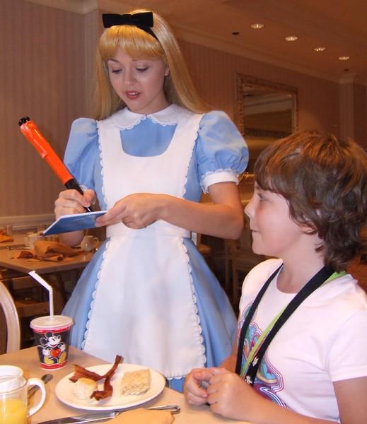 Alice autograph
