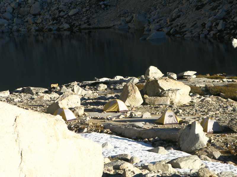 tents at Upper Boy Scout Lake