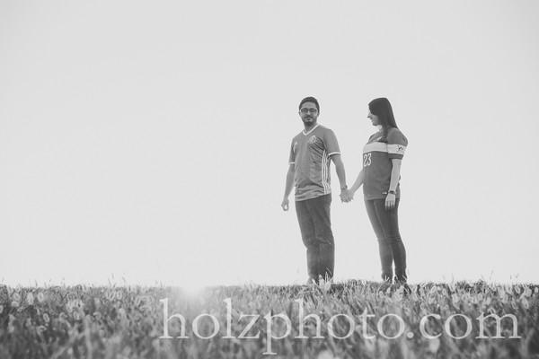 Jennifer & Ramiro B/W Engagement Photos