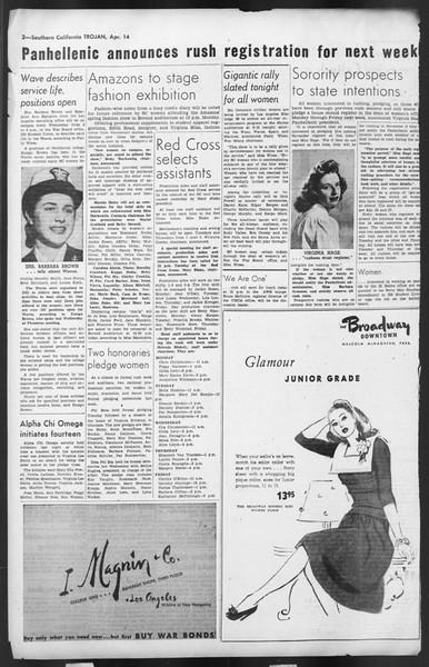 The Trojan, Vol. 35, No. 105, April 14, 1944
