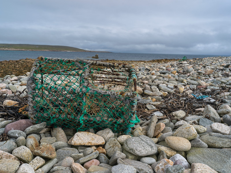 Trap on the beach, Mullet Peninsula, Binghamstown, Erris, County Mayo, Ireland