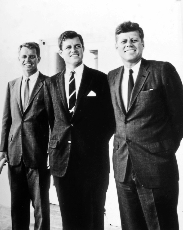 . Brothers Robert F., Edward M. and John F. Kennedy. (Photo courtesy of the John F. Kennedy Library)
