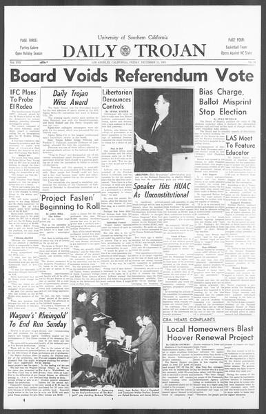 Daily Trojan, Vol. 56, No. 54, December 11, 1964