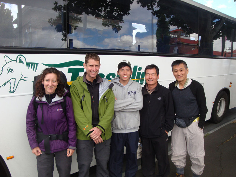 We caught the bus to Hobart with our Korean friends.