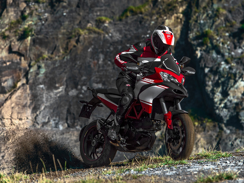 3/4: Launch of the updated Multistrada 1200 Pikes Peak Edition for 2013 - Ducati promotional action shots