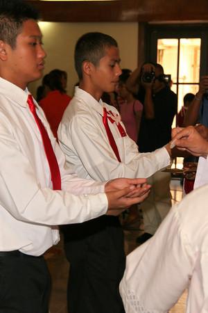 Mt.Carmel Confirmation 2010 receiving communion