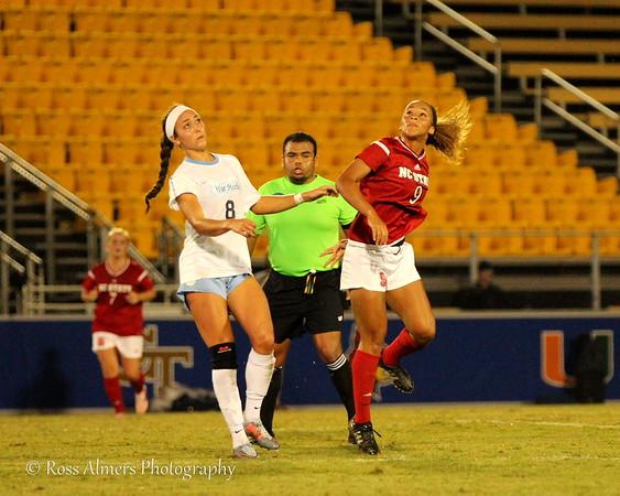 UNC vs NC State 2017 ACC Women's Soccer Championship Semifinals