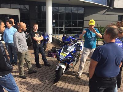 140925 bezoek Yamaha Nederland met YZF Club