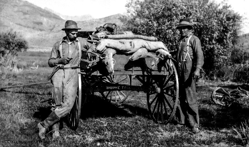 WF1922-Lemoyne and Feige with deer in wagon.jpg