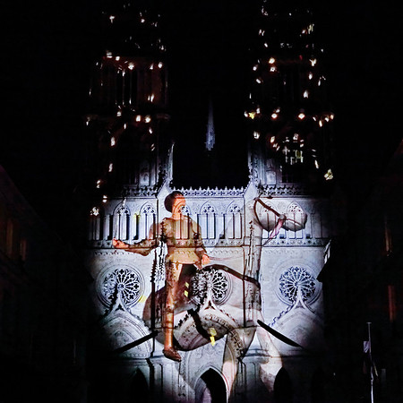Cathedrale d'Orleans - Jeanne d'Arc - videomappingg
