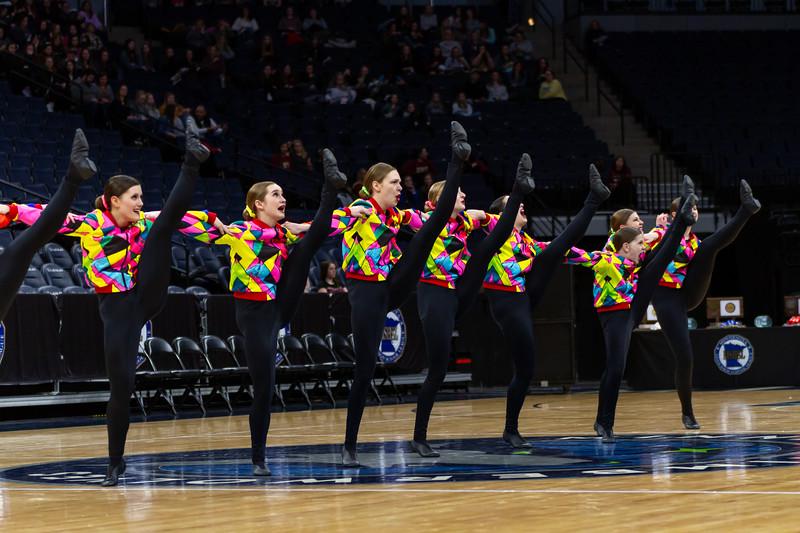 Holy Family Dance Team at 2020 MSHSL State Kick Tournament Prelim - Collin Nawrocki/The Phoenix