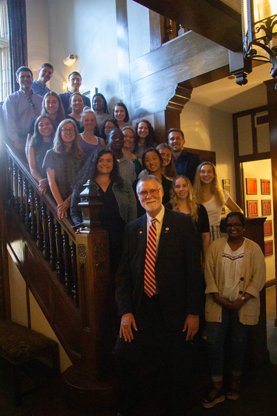 Reception with Provost McPheron Mortar Board National Senior Honor Society