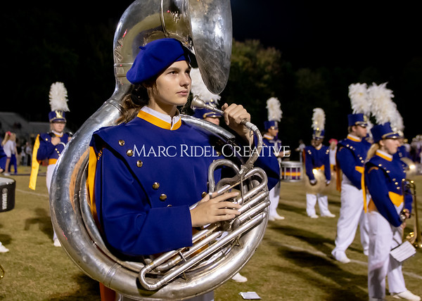Broughton varsity football vs Cardinal Gibbons. Band and Dance Team Senior Night. October 25, 2019. MRC_3671