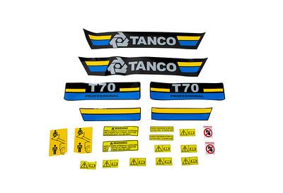 TANCO T70 PROFESSIONAL LOADER DECAL SET