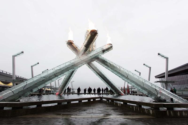 The Olympic cauldron @ Jack Poole Plaza