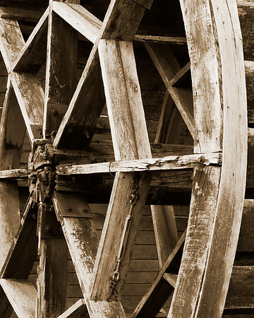 Water Wheel in Garrettsville - March 22, 2009