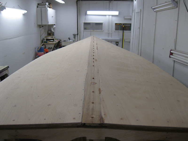 Keel cap ready to be sanded.
